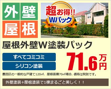 屋根外壁W塗装パック00.0万円