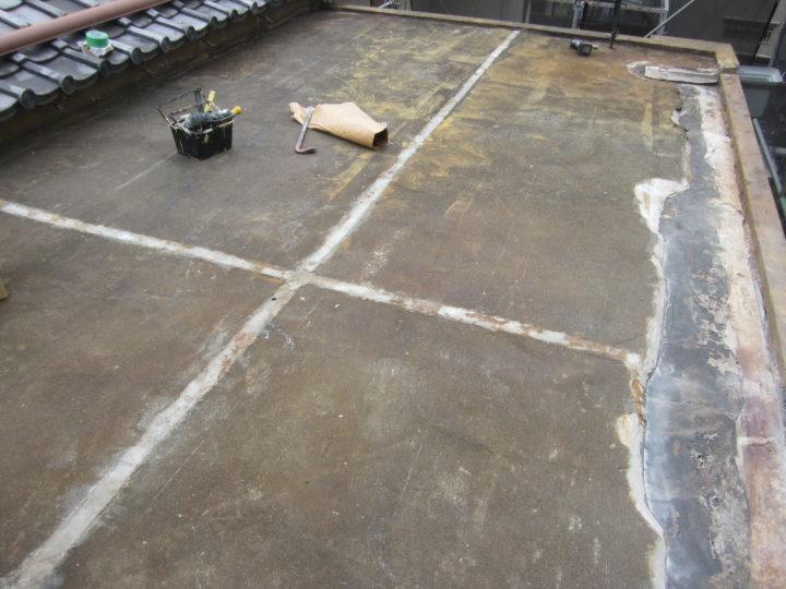 ●下地補修工事:屋上②