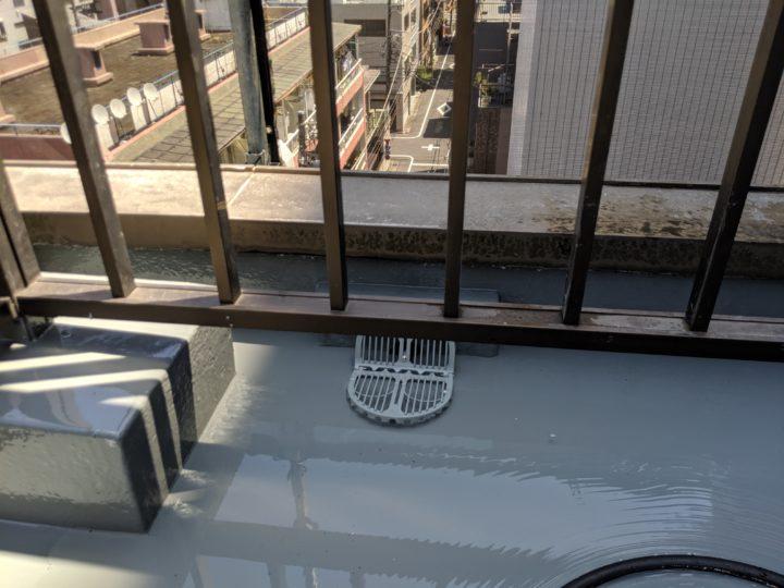 東京都墨田区 AIビル塗装工事(屋上防水工事、改修ドレン設置)