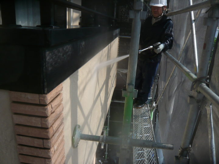 ●洗浄工事:外壁