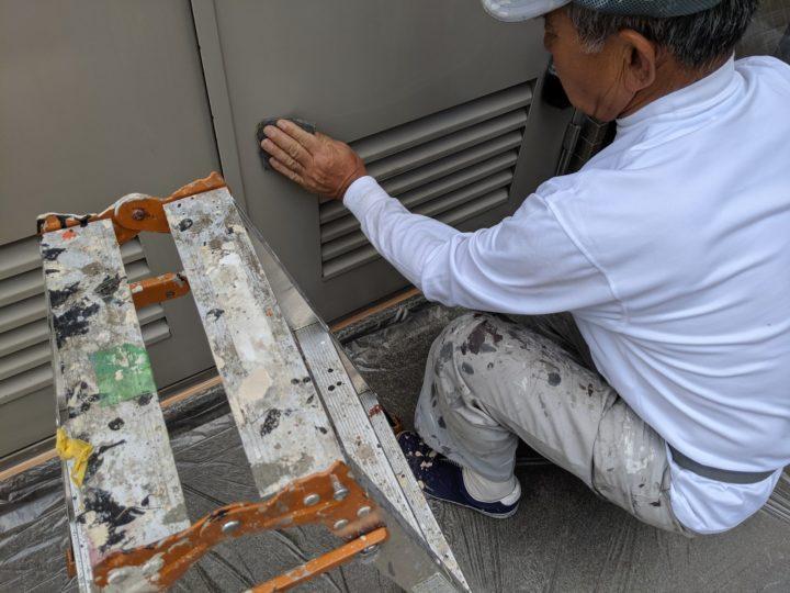 鉄扉塗装工事