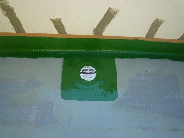 屋上 ウレタン材塗布(上塗り)