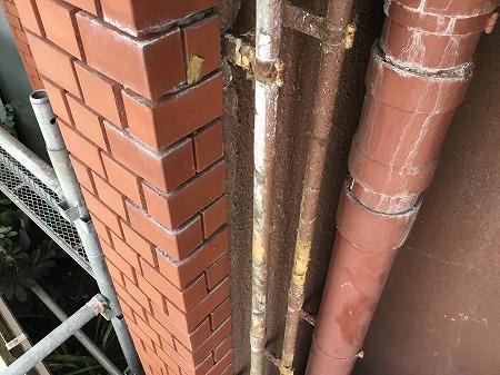 排水管 工事前(漏水部分)
