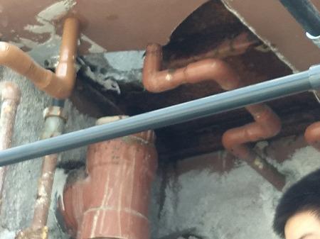 排水管 既存排水管 切断・撤去