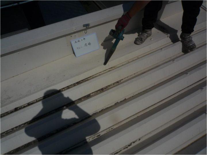屋根塗装工事 ケレン・清掃