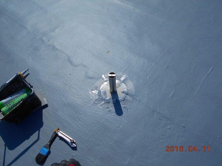 屋上防水 脱気筒設置