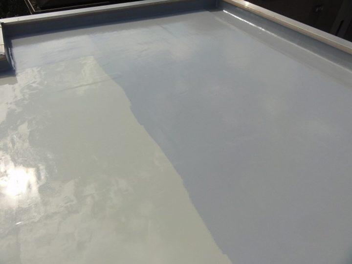 ウレタン材塗布(トップコート)