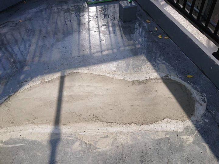 下地補修 モルタル材充填完了