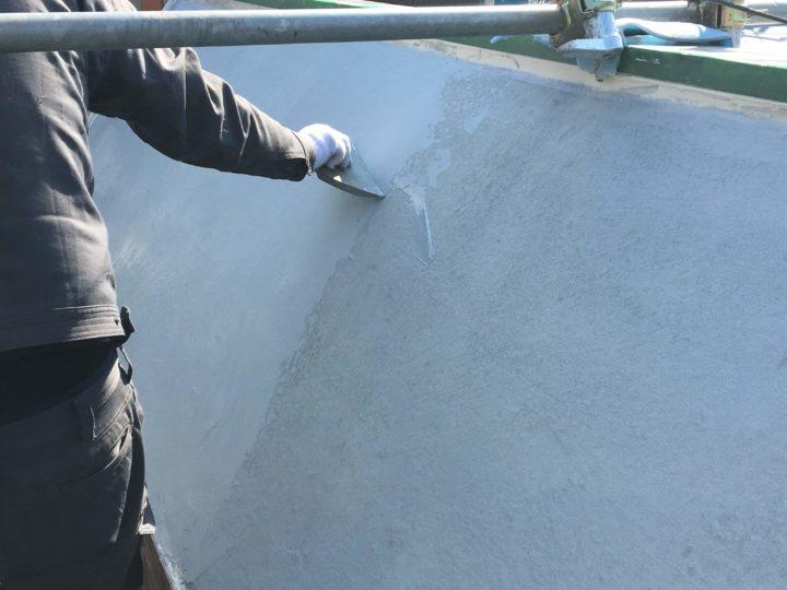 防水塗装工事 斜壁
