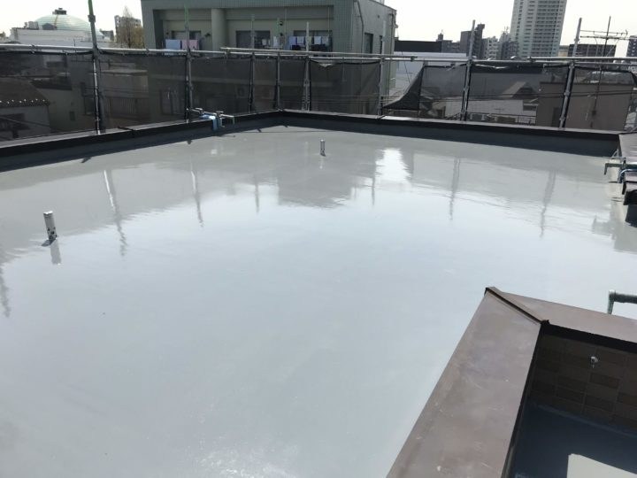 東京都品川区 Jマンション 外壁補修・屋上防水塗装工事