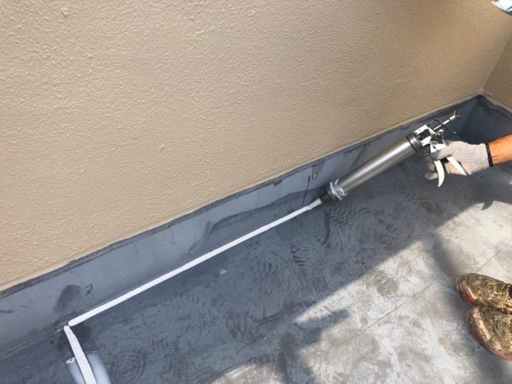 屋上防水塗装工事②