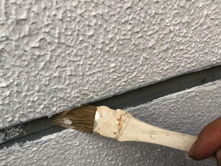 外壁目地シーリング工事 プライマー塗布