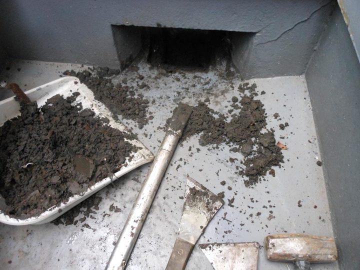 ベランダ 排水口清掃
