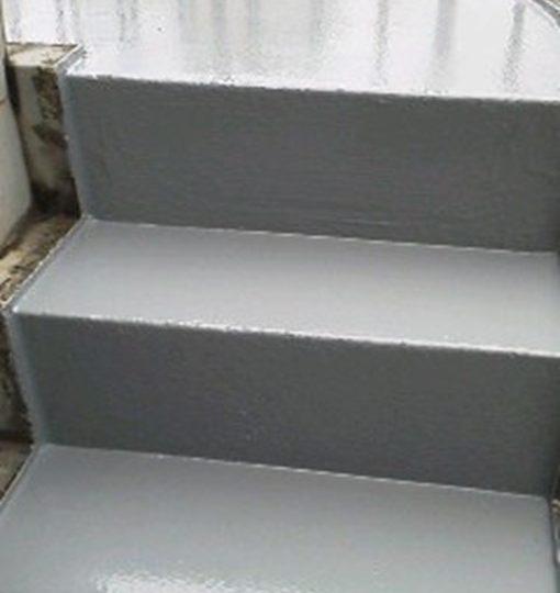 塔屋階段 ウレタン材上塗り