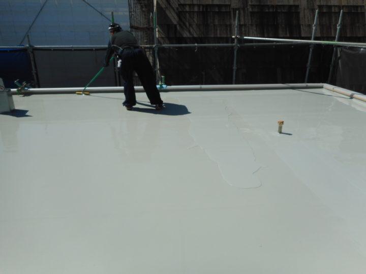 屋上防水 防水材塗布