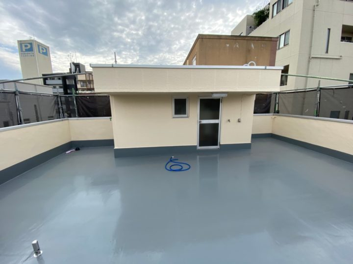 屋上防水塗装工事⑧