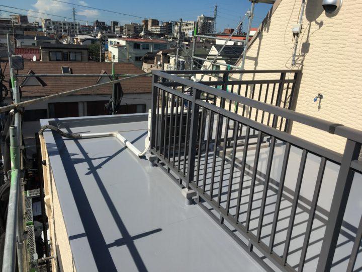 屋上防水塗装①
