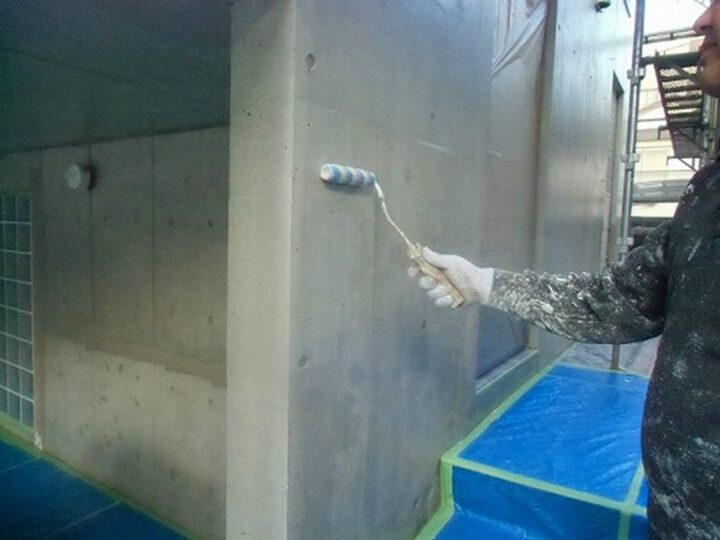 外壁 WS疎水剤塗布