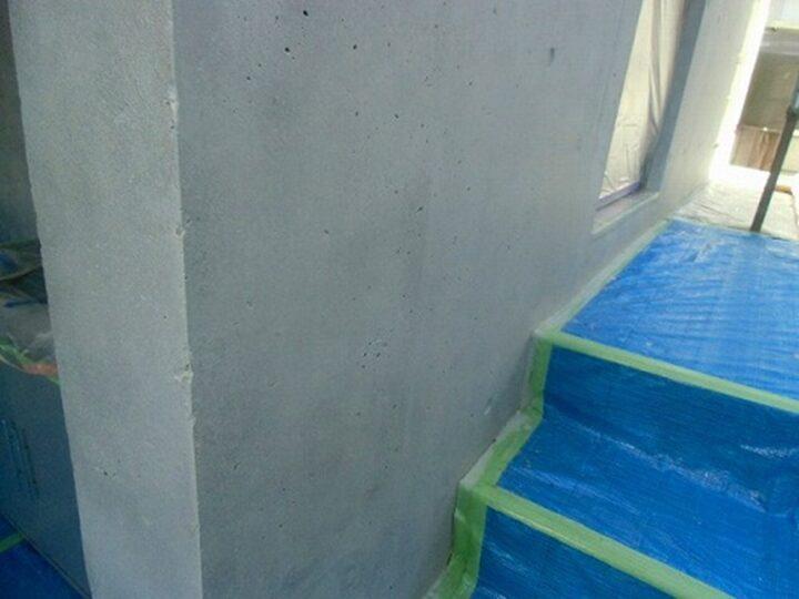 外壁 パターン液塗布後