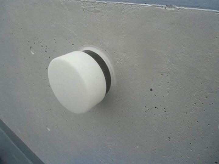外壁 照明灯 コーキング補修後
