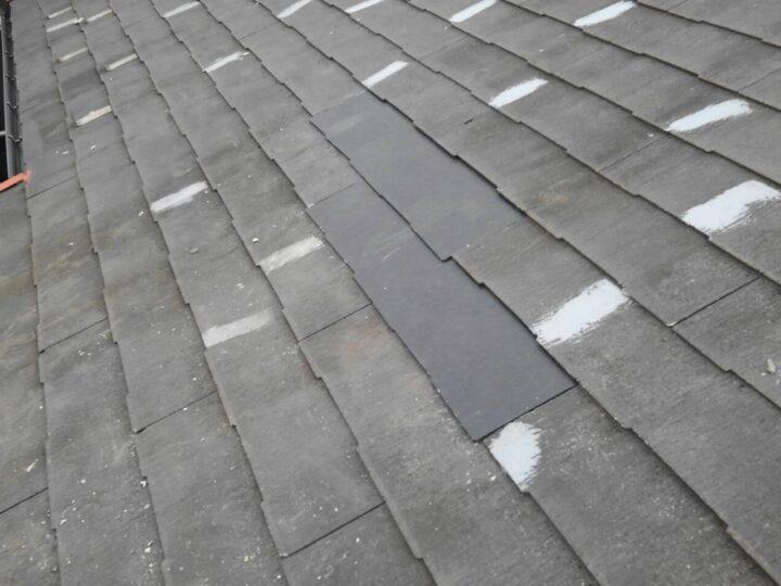 工種:スレート屋根板交換 既存スレート板設置完了