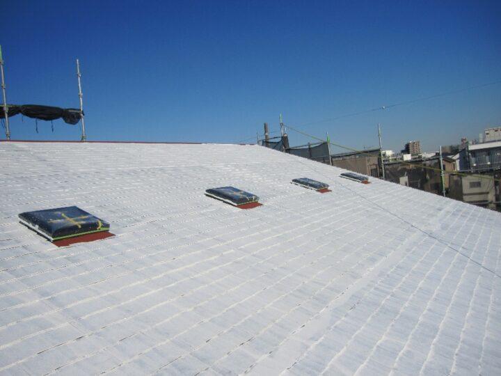 工種:屋根塗装工事 下塗材塗布