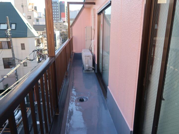 東京都台東区 東浅草Sアパート 外壁塗装・屋根塗装・防水工事