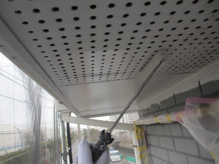 工種:外壁塗装 軒天 プライマー塗布