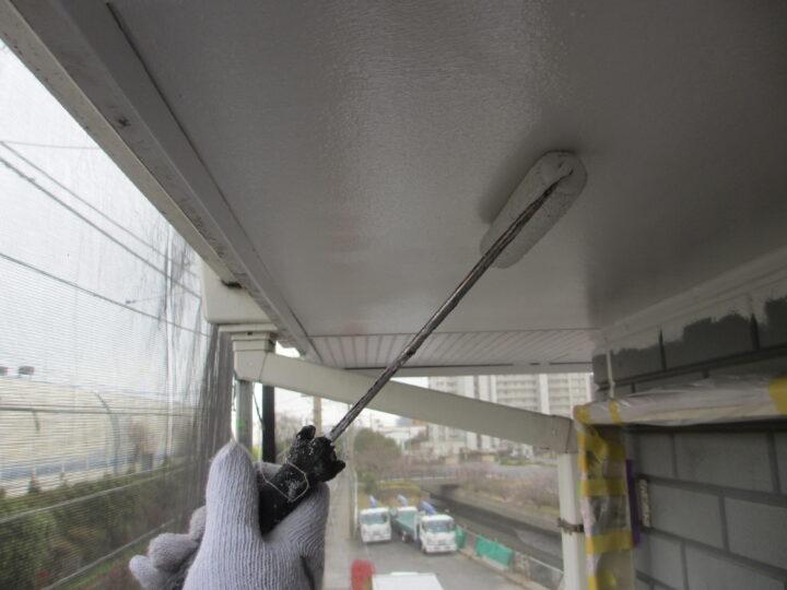 工種:外壁塗装 軒天 第1回目塗装