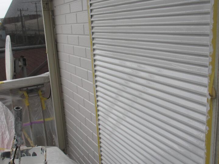 工種:鉄部塗装 シャッター 第1回目塗装