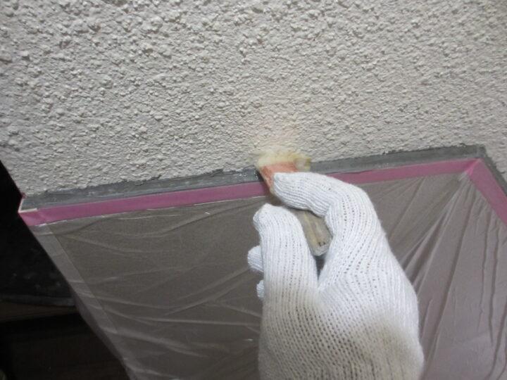 工種:外壁塗装 エントランス プライマー塗布