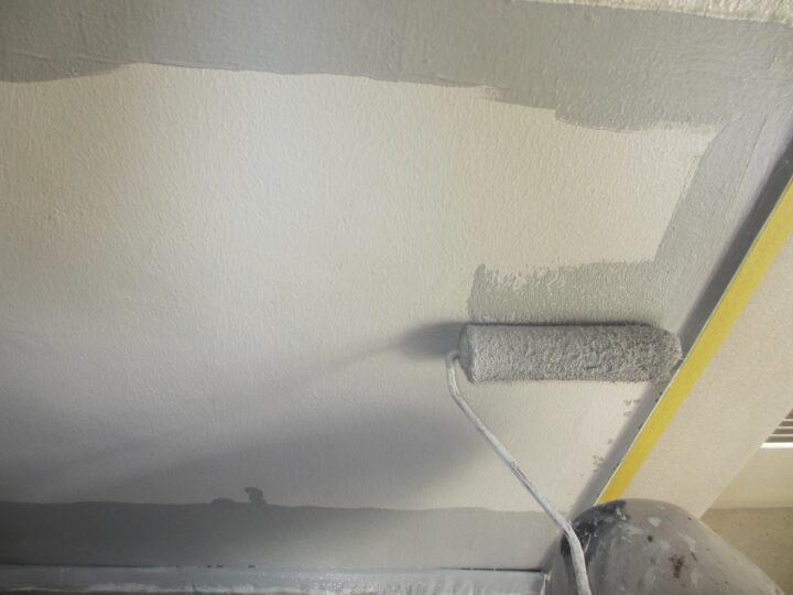 工種:外壁塗装 エントランス 第2回目塗装