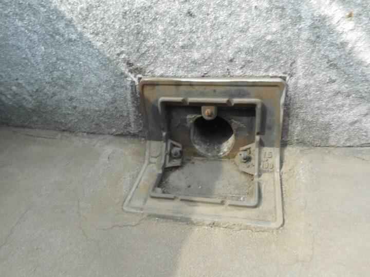 屋上防水工事 既存ドレン撤去
