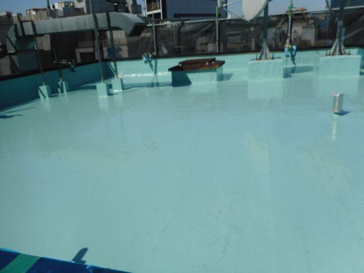 屋上防水工事 ウレタン塗膜防水 第1回目塗装