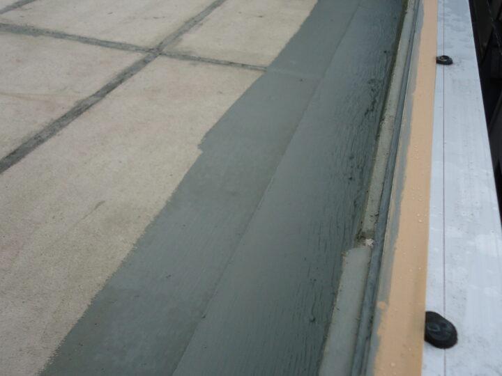 下地調整 モルタル材塗布